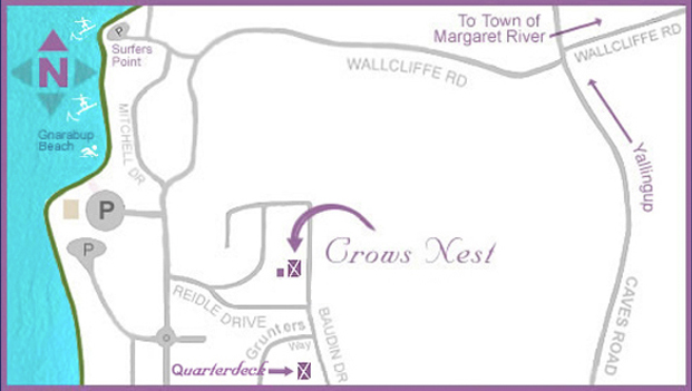 Crows Nest Accommodation - Map